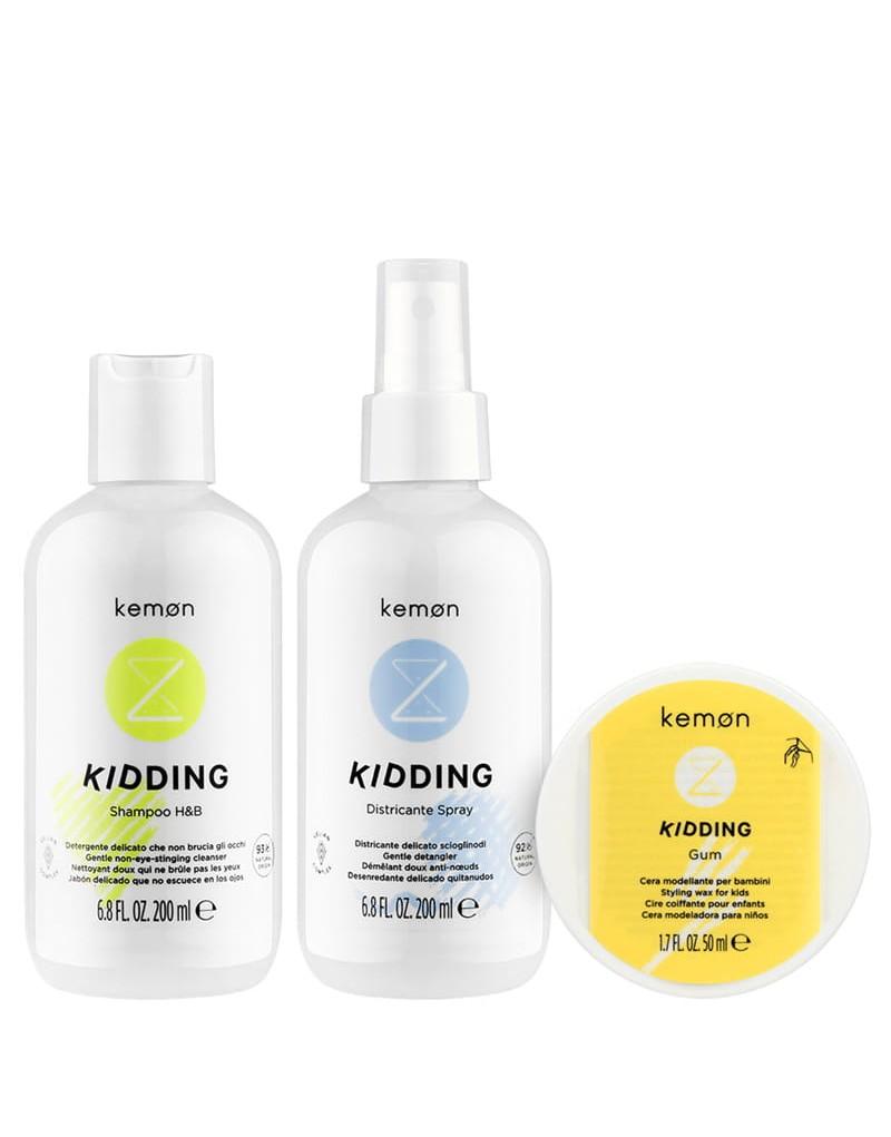 Zestaw Kemon Kidding: Szampon Kidding 200 ml, Spray Kidding 200 ml, Wosk Kidding 50 ml