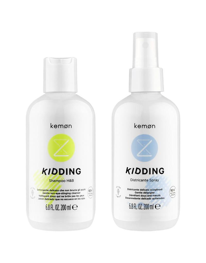 Szampon Kemon Kidding 200 ml, Spray Kemon Kidding do rozczesywania 200 ml