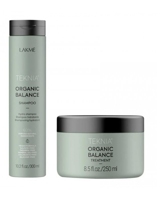 Lakme Teknia ORGANIC BALANCE Treatment maska organiczna i szampon Balance