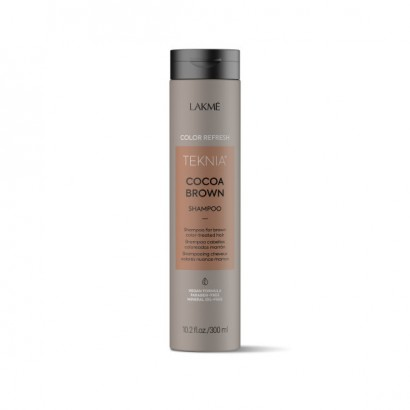 Lakme Teknia Cocoa Brown, REFRESH Shampoo, szampon do włosów farbowanych w odcieniach brązu 300 ml