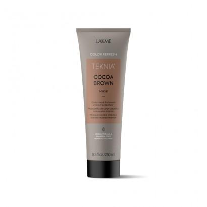 Lakme Teknia Cocoa Brown, REFRESH Mask, maska do włosów farbowanych w odcieniach brązu 250 ml