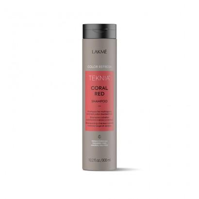 Lakme Teknia Coral Red, REFRESH Shampoo, szampon do włosów farbowanych w odcieniach czerwieni 300 ml