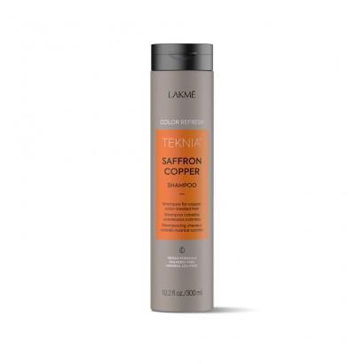 Lakme Teknia Saffron Cooper, REFRESH Shampoo, szampon do włosów farbowanych w odcieniach miedzianych 300 ml