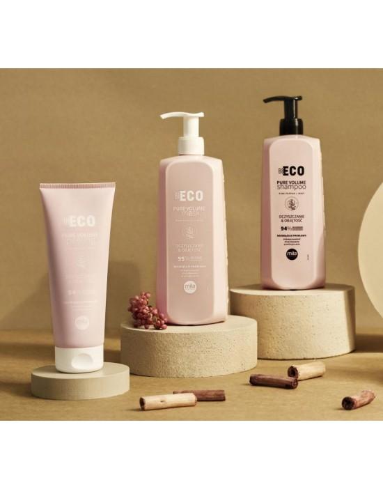 Mila Be Eco, zestaw PURE Volume: Szampon 900 ml, Maska 900 ml, Peeling 200 ml