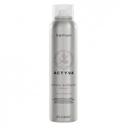 Spray Styling do włosów farbowanych Kemon Actyva Colore Brillante