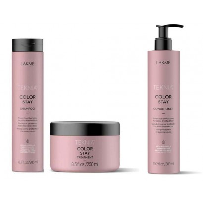 Lakme Teknia Color Stay: Szampon 300 ml, odżywka 300 ml, maska 250 ml