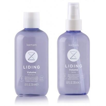 Kemon Liding Volume, zestaw: szampon 250 ml,  spray 200 ml