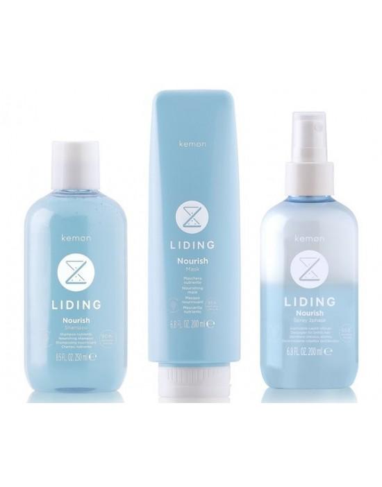 Kemon Liding Nourish zestaw, szampon 250 ml, maska 200 ml, odżywka 200 ml