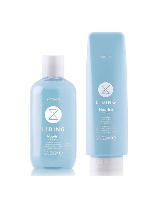 Kemon Liding Nourish, zestaw: szampon 250 ml, maska 200 ml