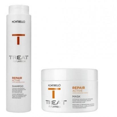 Montibello Repair Active zestaw: szampon 300 ml, maska 200 ml