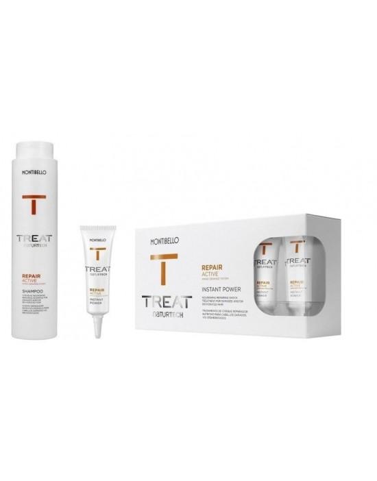 Montibello Repair Active zestaw: szampon 300 ml,  Ampułki odbudowujące 10x12 ml