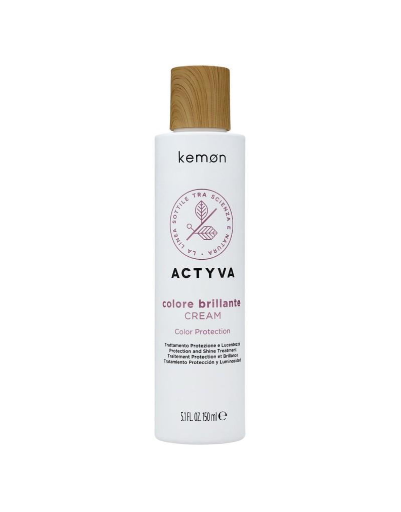 Kemon Actyva Colore Brillante Cream, Krem do włosów farbowanych 150ml