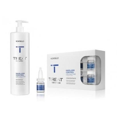 Montibello duży zestaw przeciw wypadaniu Cryoactive: szampon 1000 ml, ampułki Hair Loss 10x7 ml