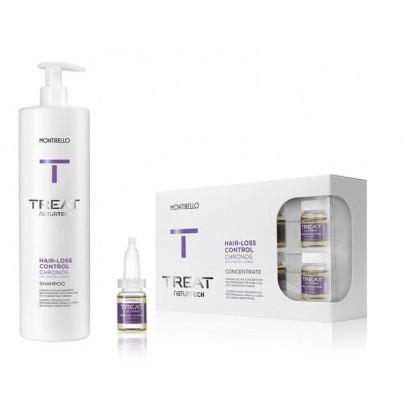 Montibello zestaw przeciw wypadaniu Chronos: szampon 1000 ml, ampułki Chronos 10x7 ml