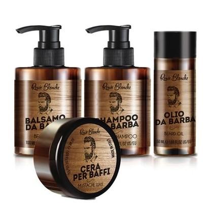Zestaw do pielęgnacji brody Renee Blanche: Szampon, Balsam, Olejek i wosk