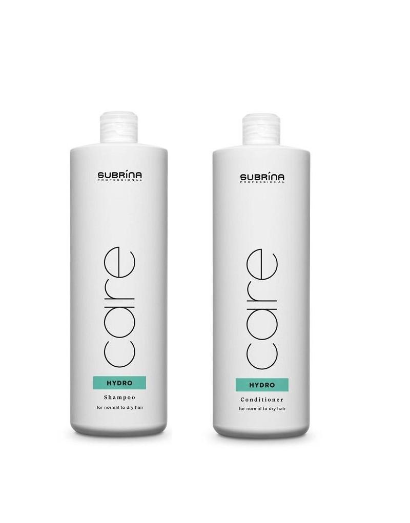 Subrina Professional, zestaw nawilżający Szampon Hydro 1000 ml, odżywka Hydro 1000 ml