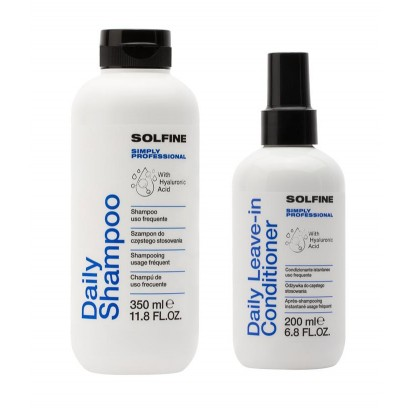 Solfine zestaw daily: Szampon 350 ml, odżywka bez spłukiwania 200 ml