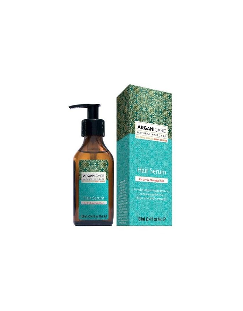 Arganicare ARGAN + SHEA BUTTER, serum odbudowujące i regenerujące do włosów i końcówek 100 ml