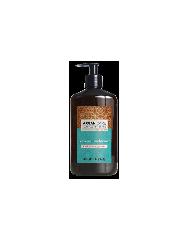 Arganicare ARGAN + SHEA BUTTER, odżywka bez spłukiwania do włosów suchych i zniszczonych 400 ml