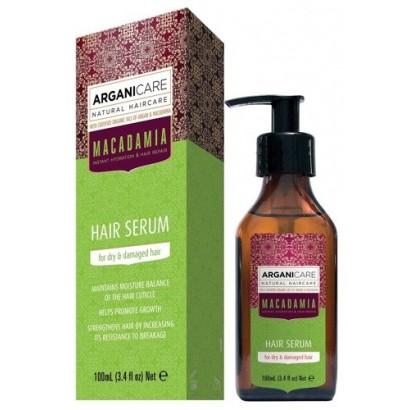 Arganicare MACADAMIA, serum do włosów suchych i zniszczonych z olejem Macadamia 100 ml