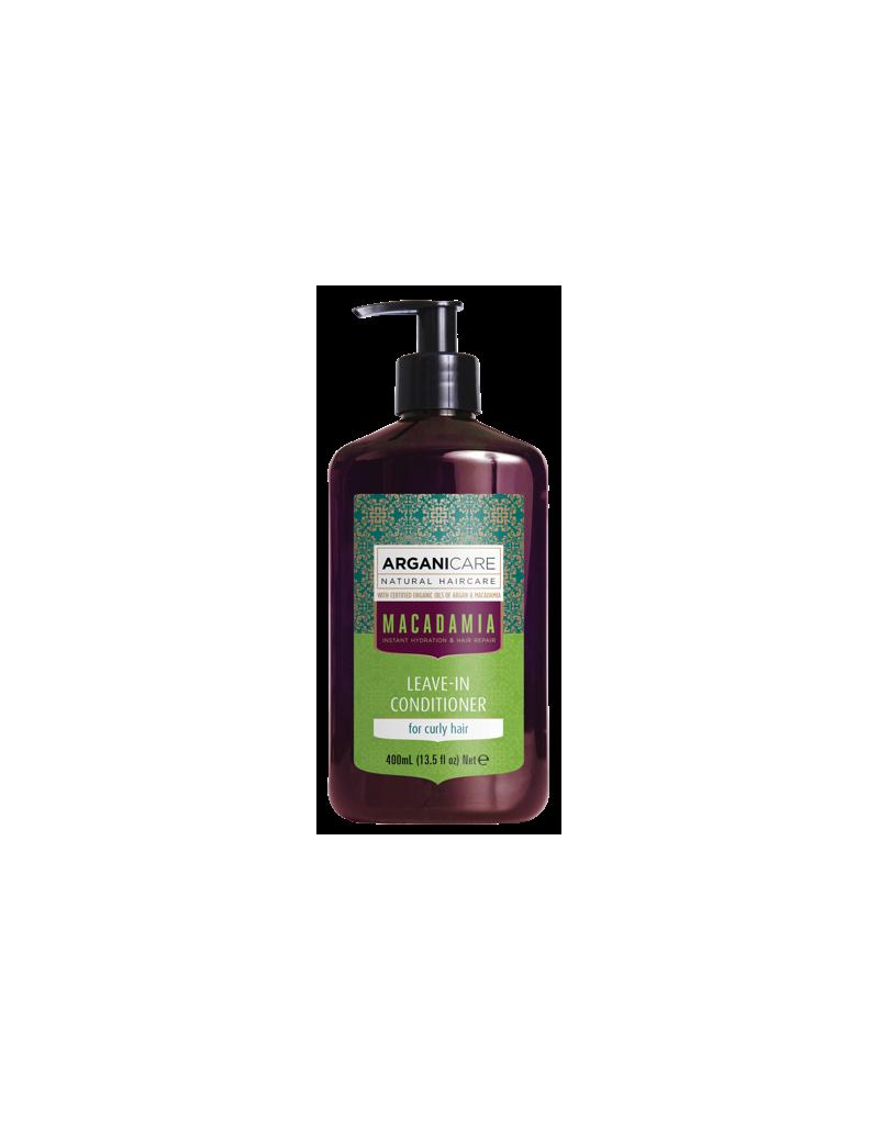 Arganicare MACADAMIA, odżywka bez spłukiwania do włosów suchych z olejem Macadamia 400 ml