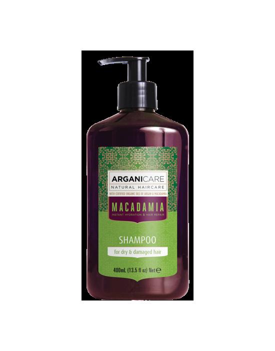 Arganicare MACADAMIA, szampon nawilżający do włosów zapobiegający rozdwajaniu się końcówek 400 ml