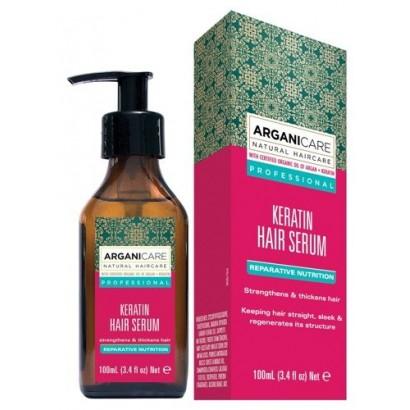 Arganicare KERATIN, serum odżywiające i wygładzające do włosów zniszczonych 100 ml