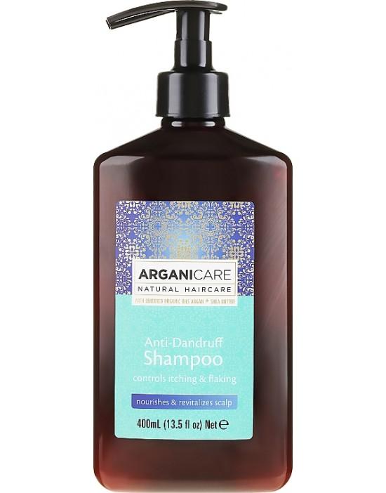Arganicare ARGAN + SHEA BUTTER, szampon przeciwłupieżowy do włosów z masłem Shea 400 ml