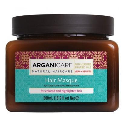 Arganicacre ARGAN Mask, Maska do włosów farbowanych i rozjaśnionych z masłem Shea 500 ml