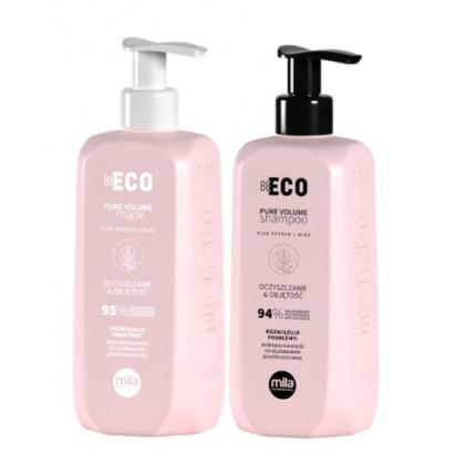 Mila Professional, zestaw oczyszczający i nadający objętości Pure Volume, szampon 250 ml + maska 250 ml