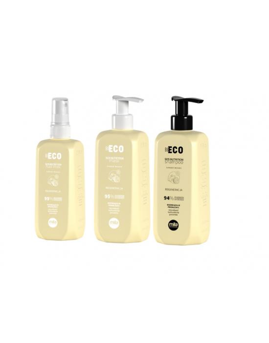 Mila Professional, zestaw regenerujący, szampon 250 ml + maska 250 ml + mleczko regenerujące 250 ml