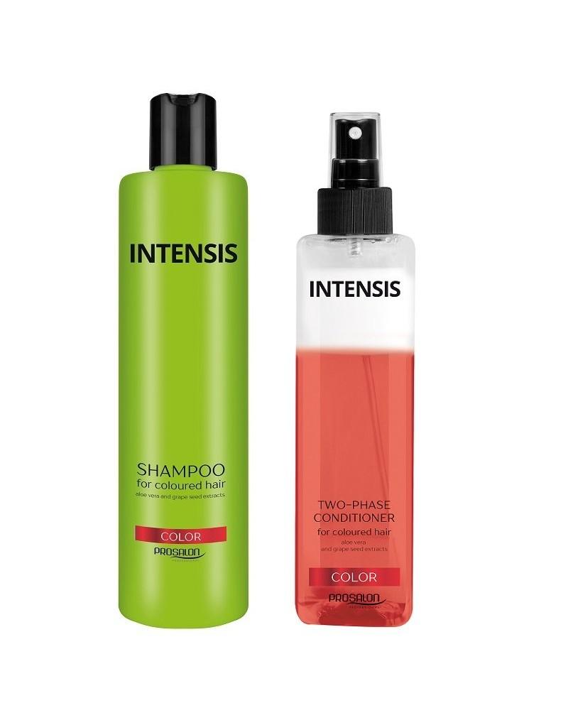 Chantal Prosalon, zestaw do włosów farbowanych: szampon 300 ml + odżywka 2-fazowa 200 g