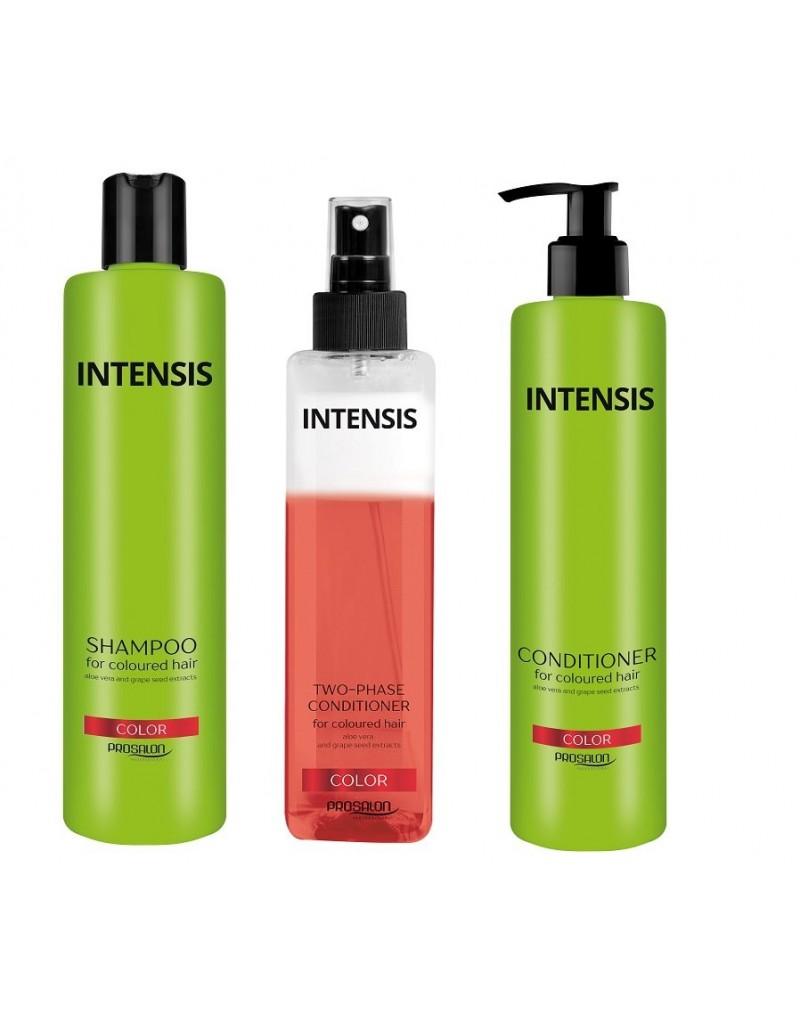 Chantal Prosalon, zestaw do włosów farbowanych: szampon + odżywka + odżywka 2-fazowa