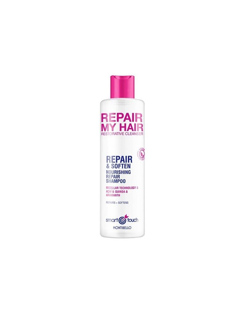 Montibello Smart Touch, Repair My Hair, Micelarny szampon regenerujący i nawilżający 300 ml