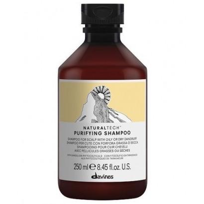 Davines Naturaltech Purifying Shampoo, szampon do włosów i skóry głowy z łupieżem 250 ml
