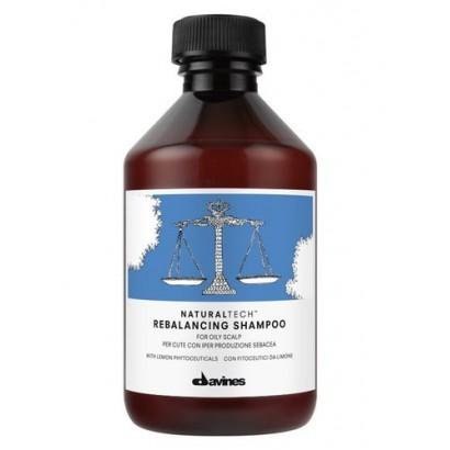 Davines Naturaltech Rebalancing Shampoo, szampon do włosów i skóry głowy przetłuszczających się 250 ml