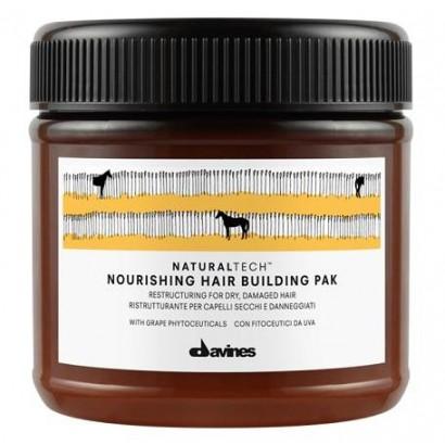 Davines Naturaltech Nourishing Hair Bulding Pak, maska do włosów suchych i łamliwych 250 ml
