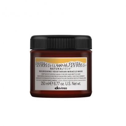 Davines Naturaltech Nourishing Vegetarian Miracle Mask, maska głęboko nawilżająca do włosów suchych i łamliwych 250 ml