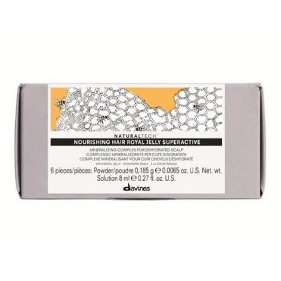 Davines Naturaltech Nourishing Hair Royal Jelly Superactive, koncentrat mineralizujący 6 x 8 ml