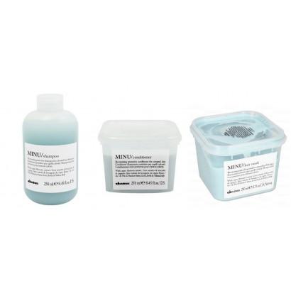 Davines Minu zestaw do włosów farbowanych: Szampon 250 ml + Odżywka 250 ml + Maska 250 ml