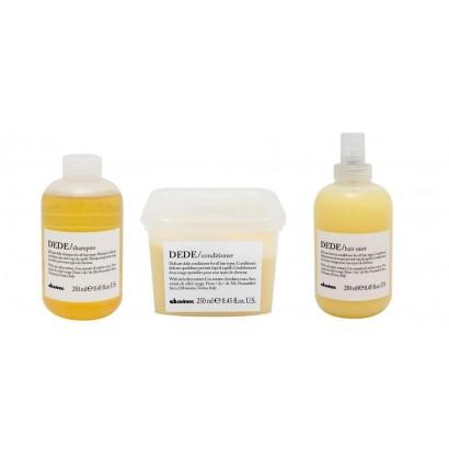 Davines DEDE zestaw: Szampon codzienny 250 ml + odżywka codzienna 250 ml + Mgiełka regeneracyjna 250 ml