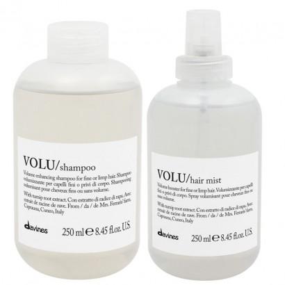 Davines VOLU zestaw nadający objętość: Szampon 250 ml + Mgiełka Hair Mist 250 ml