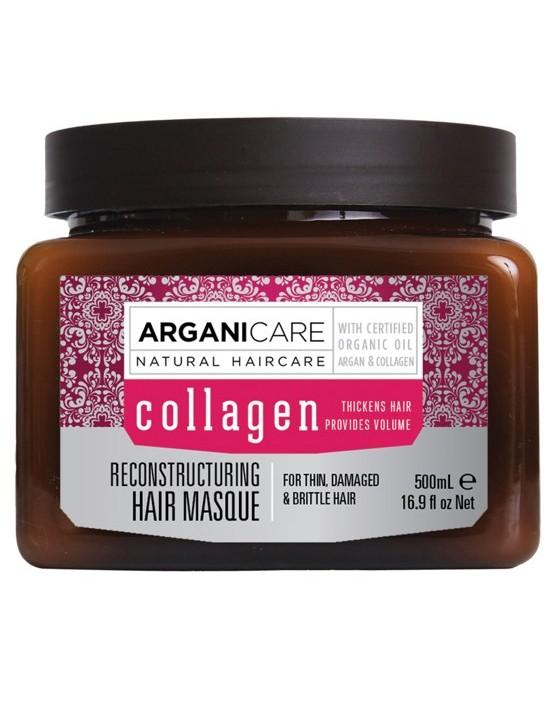 Maska z kolagenem do włosów suchych i zniszczonych Arganicare Collagen 500 ml