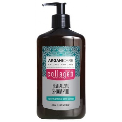 Arganicare Collagen, Szampon rewitalizujący z kolagenem i organicznym Olejem Arganowym 400 ml