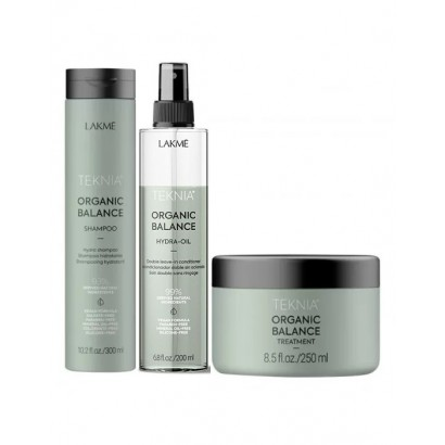 Lakme Teknia ORGANIC BALANCE maska, odżywka 2-fazowa i szampon