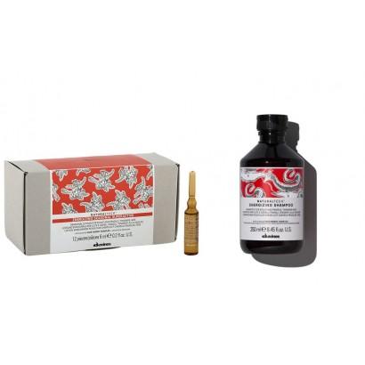 Davines Energizing zestaw przeciw wypadaniu: Szampon + ampułki 12 x 6 ml