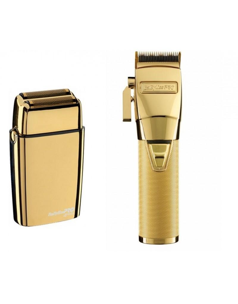 Babyliss Golarka bezprzewodowa FXFS2GE złota + Maszynka CLIPPER GOLD FX8700GE