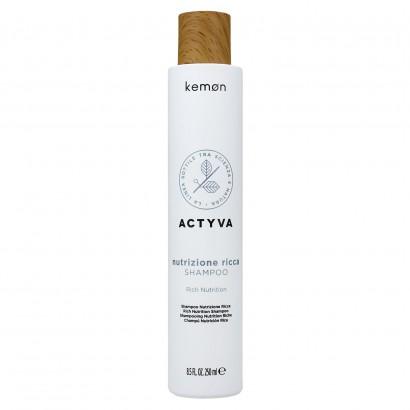 Kemon Actyva, Nutrizione Ricca, Szampon do włosów bardzo suchych 250ml