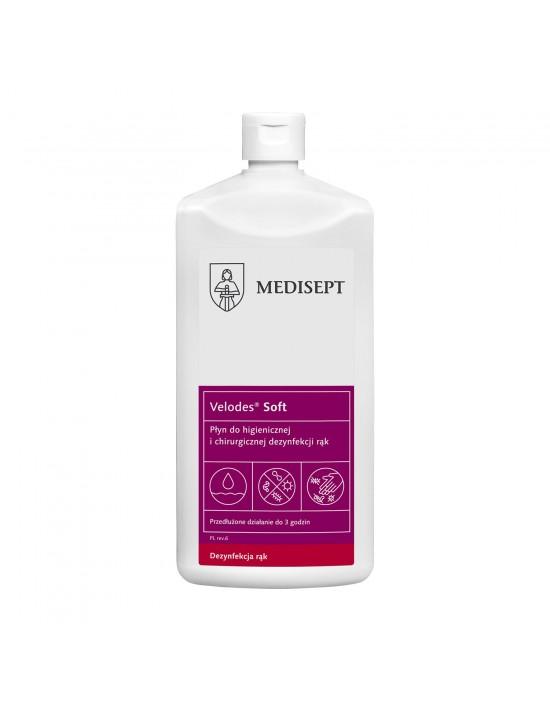 Medisept Velodes Soft płyn do higienicznej i chirurgicznej dezynfekcji rąk