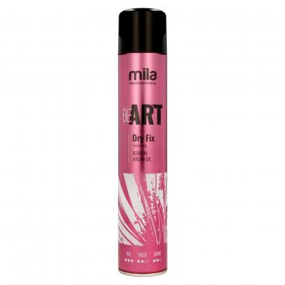 Lakier do włosów BE ART Dry Fix Mila professional, Suchy lakier 500 ml